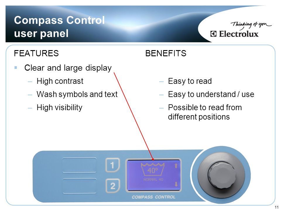 Compass Control user panel