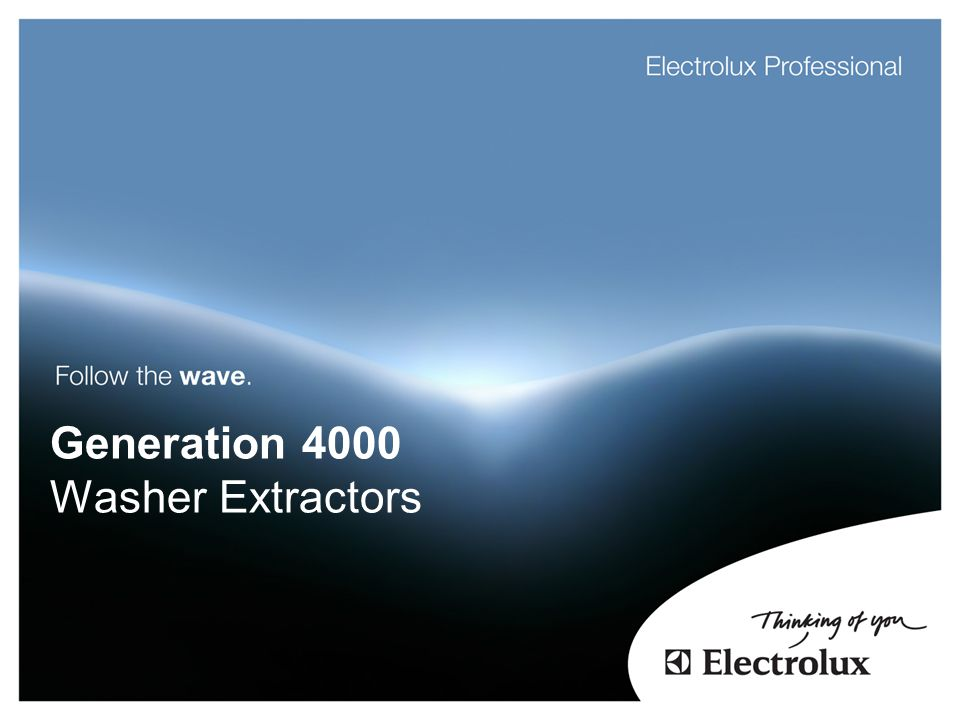 Generation 4000 Washer Extractors