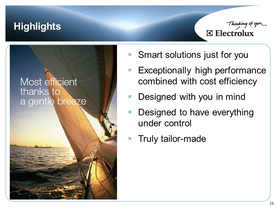 Highlights Smart solutions just for you