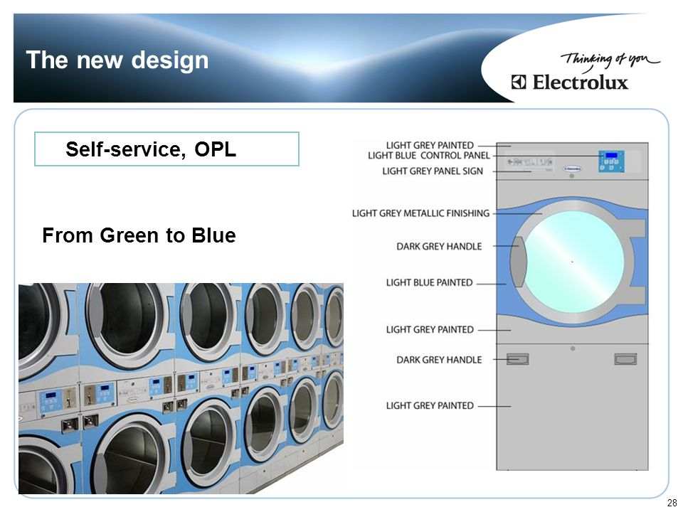 The new design Self-service, OPL From Green to Blue