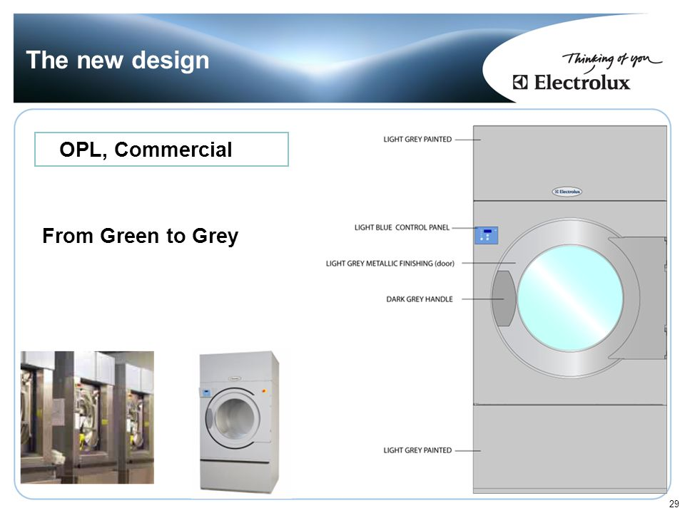 The new design OPL, Commercial From Green to Grey