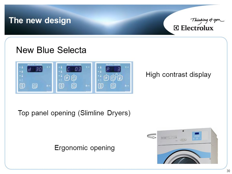 New Blue Selecta The new design High contrast display