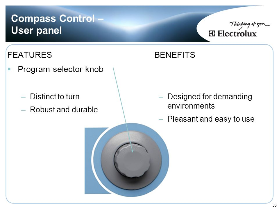 Compass Control – User panel