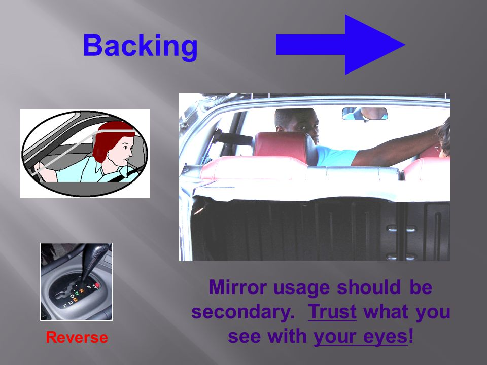 Mirror usage should be secondary. Trust what you see with your eyes!