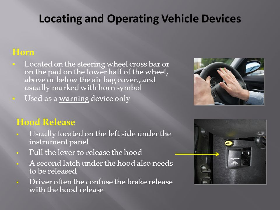 Locating and Operating Vehicle Devices