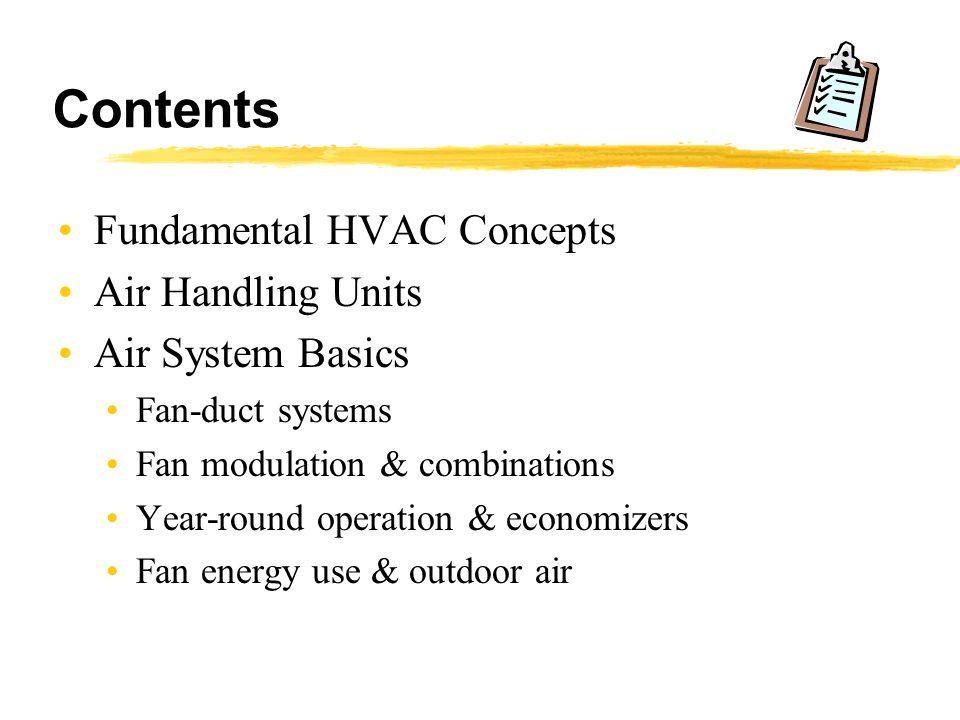 Contents Fundamental HVAC Concepts Air Handling Units
