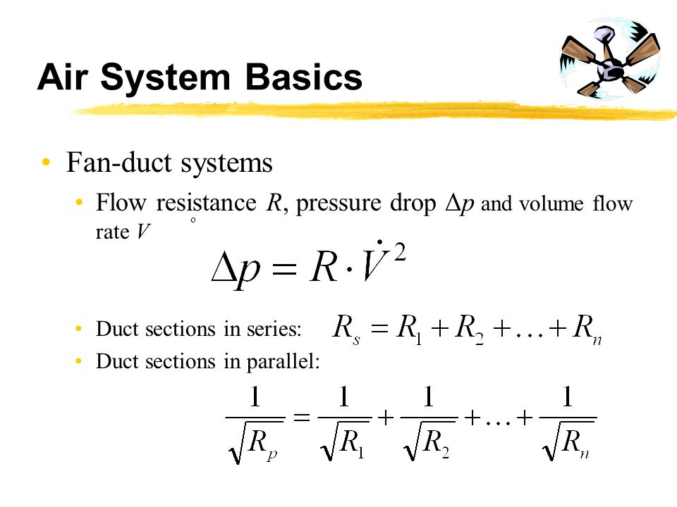 Air System Basics Fan-duct systems