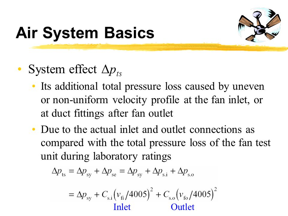Air System Basics System effect Δpts