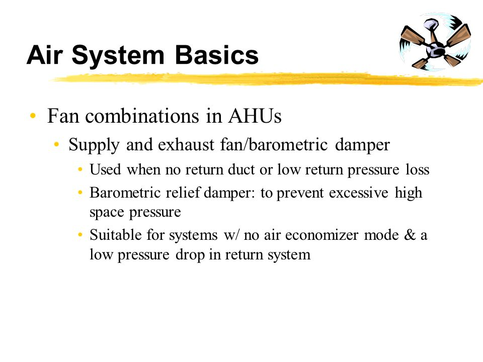 Air System Basics Fan combinations in AHUs
