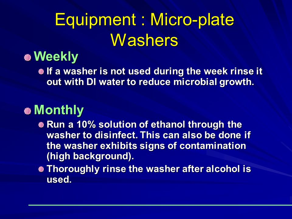 Equipment : Micro-plate Washers