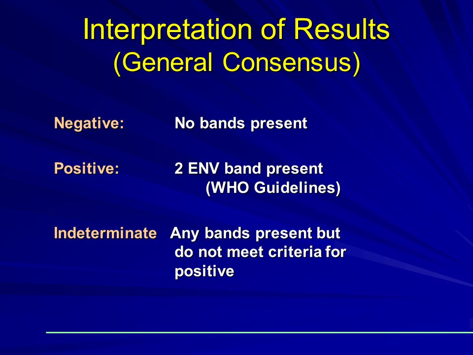 Interpretation of Results (General Consensus)