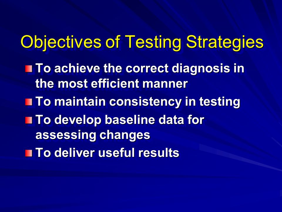 Objectives of Testing Strategies