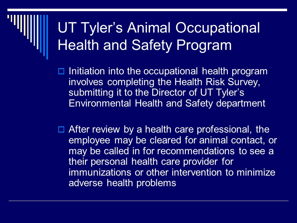 UT Tyler's Animal Occupational Health and Safety Program