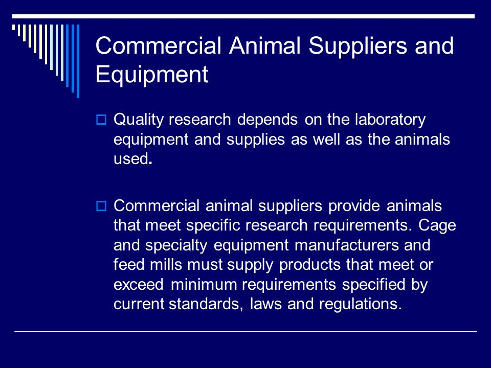 Commercial Animal Suppliers and Equipment
