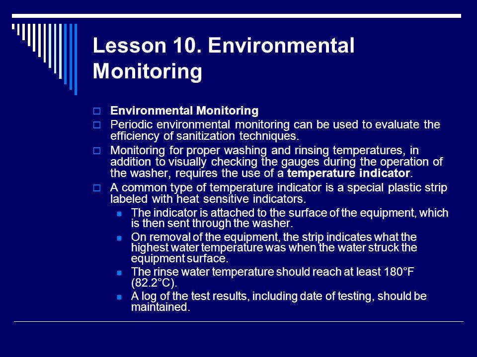 Lesson 10. Environmental Monitoring