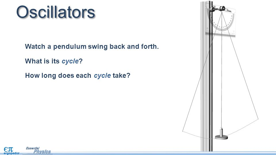 Oscillators Watch a pendulum swing back and forth. What is its cycle
