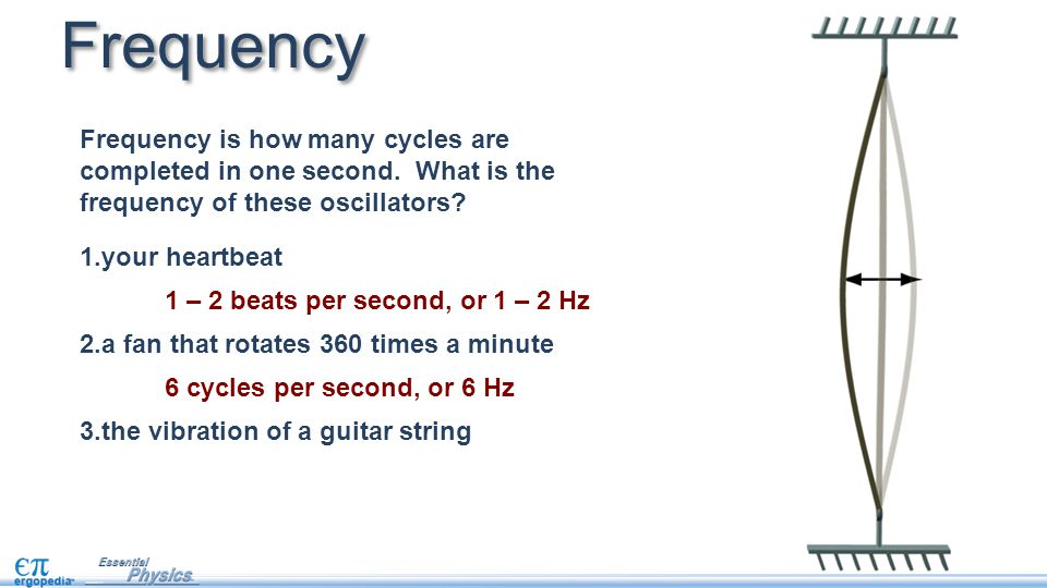Frequency Frequency is how many cycles are completed in one second. What is the frequency of these oscillators