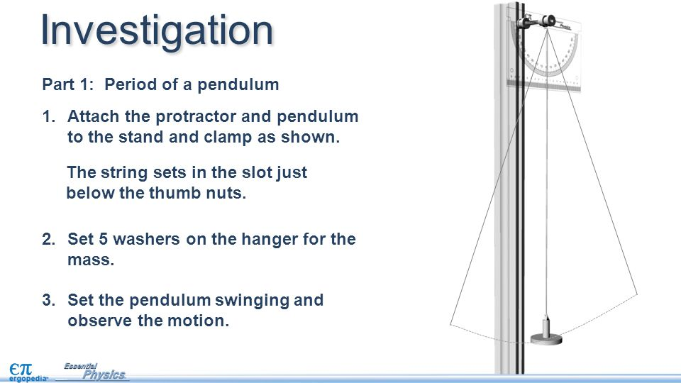 Investigation Part 1: Period of a pendulum