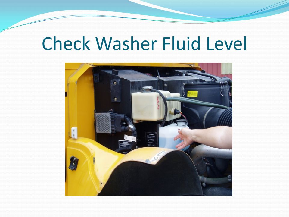 Check Washer Fluid Level