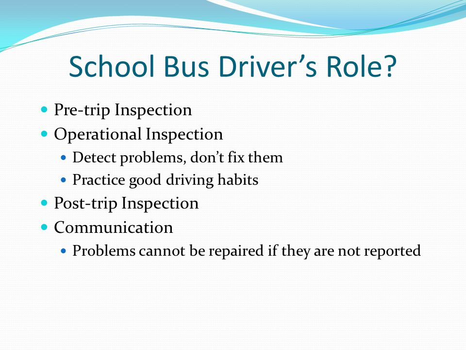 School Bus Driver's Role