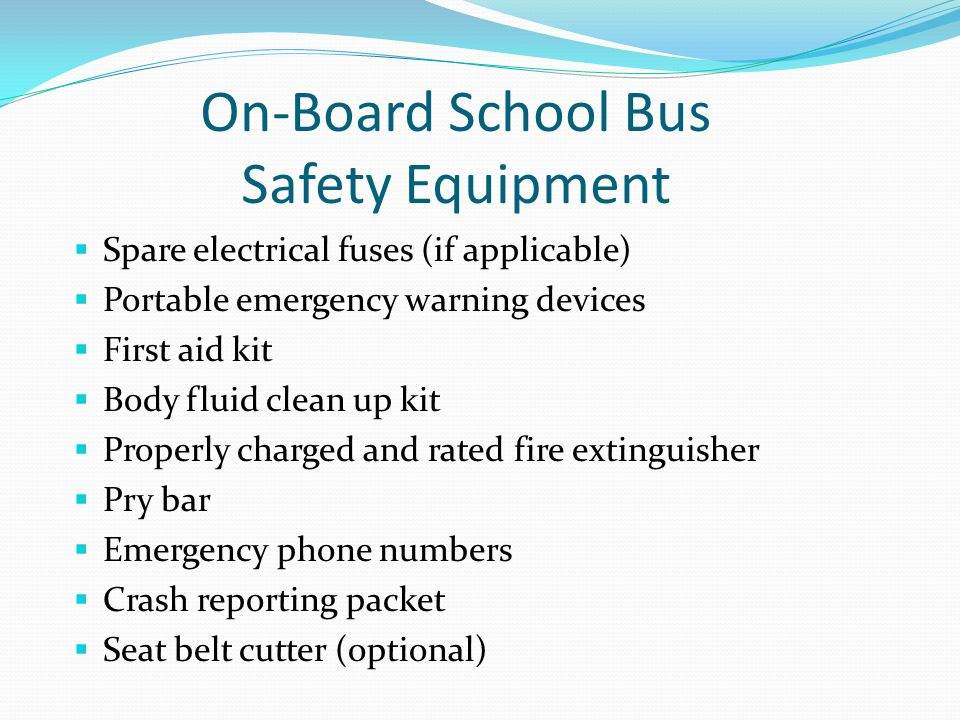 On-Board School Bus Safety Equipment