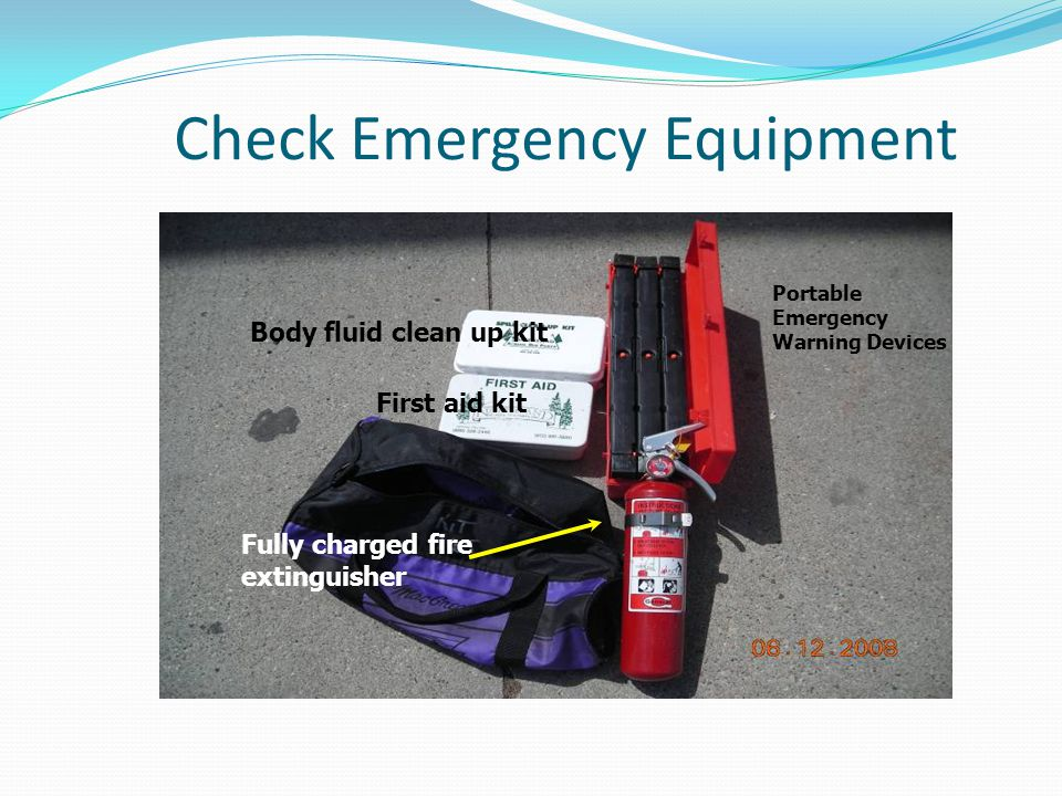 Check Emergency Equipment