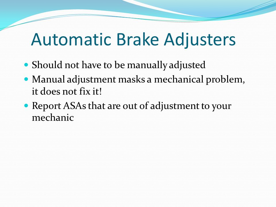 Automatic Brake Adjusters