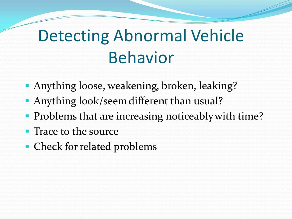 Detecting Abnormal Vehicle Behavior