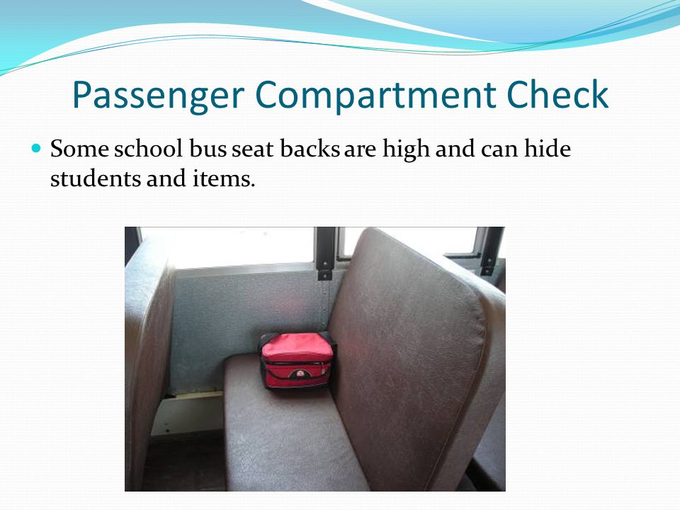 Passenger Compartment Check