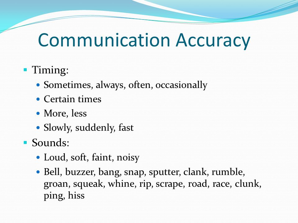 Communication Accuracy