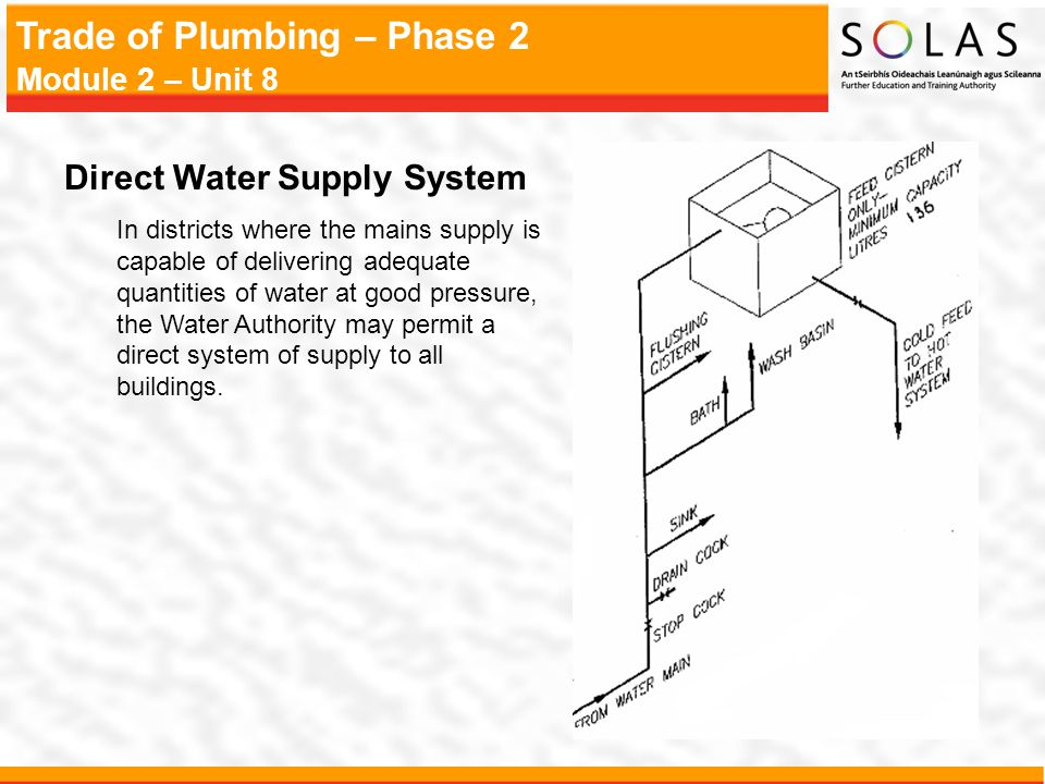 Direct Water Supply System