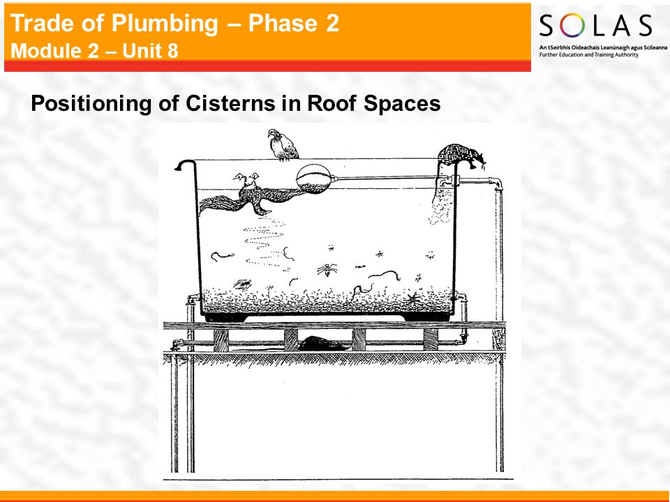 Positioning of Cisterns in Roof Spaces