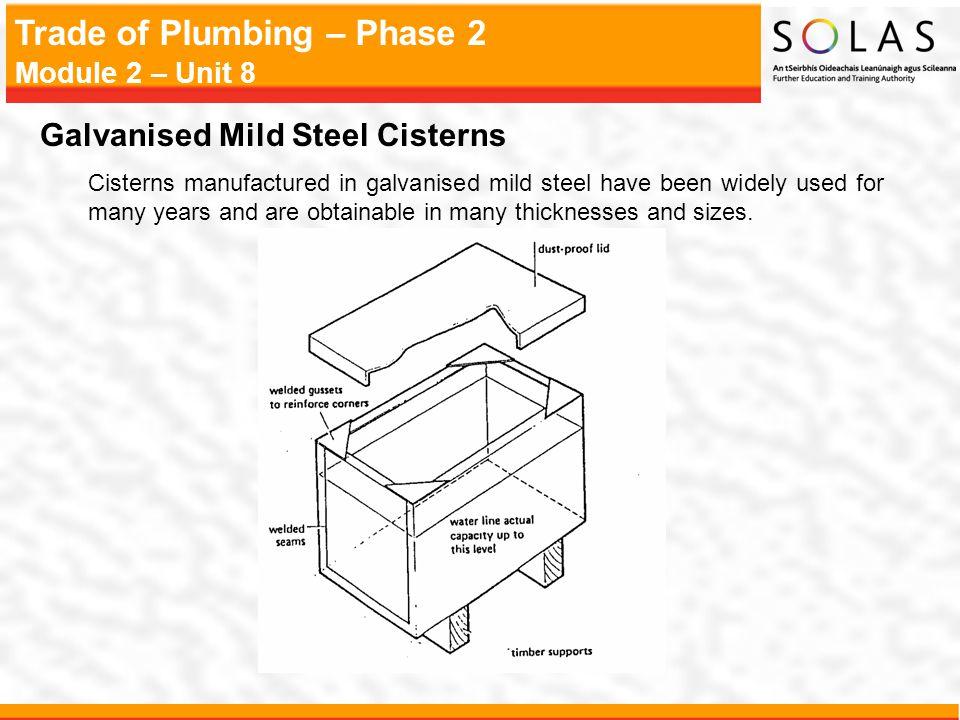 Galvanised Mild Steel Cisterns