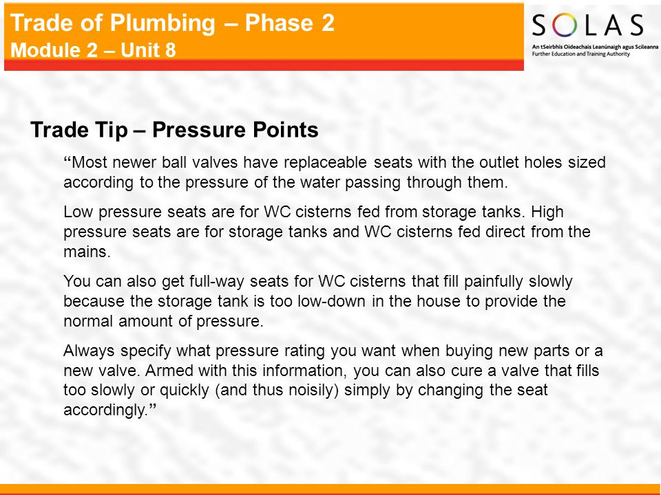Trade Tip – Pressure Points
