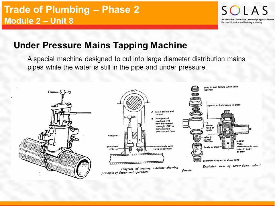 Under Pressure Mains Tapping Machine
