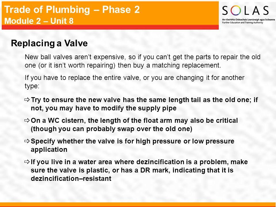 Replacing a Valve