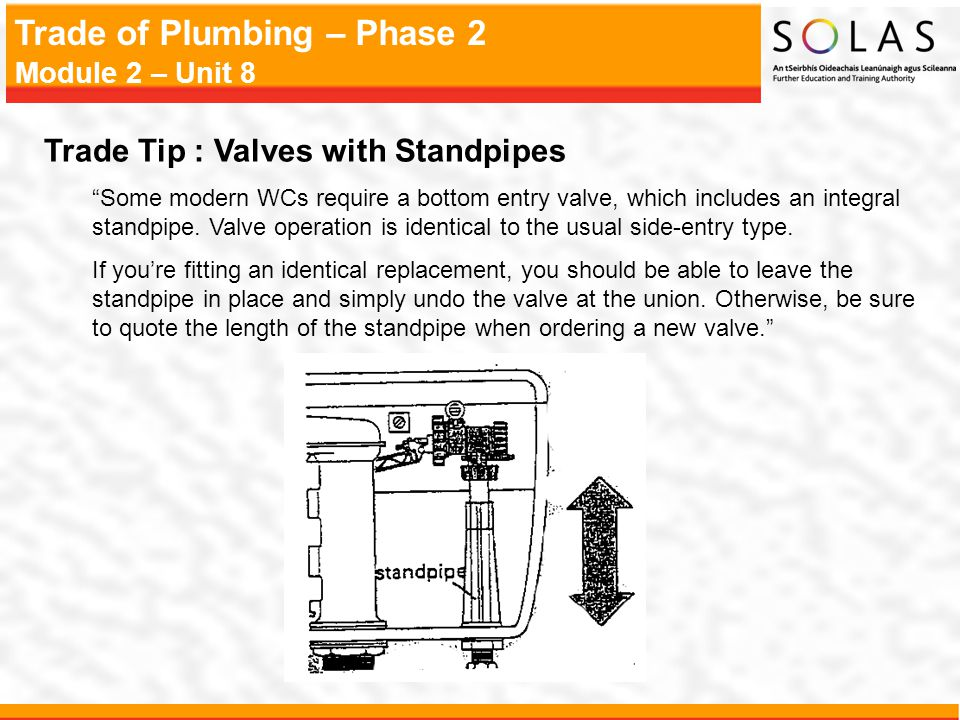 Trade Tip : Valves with Standpipes