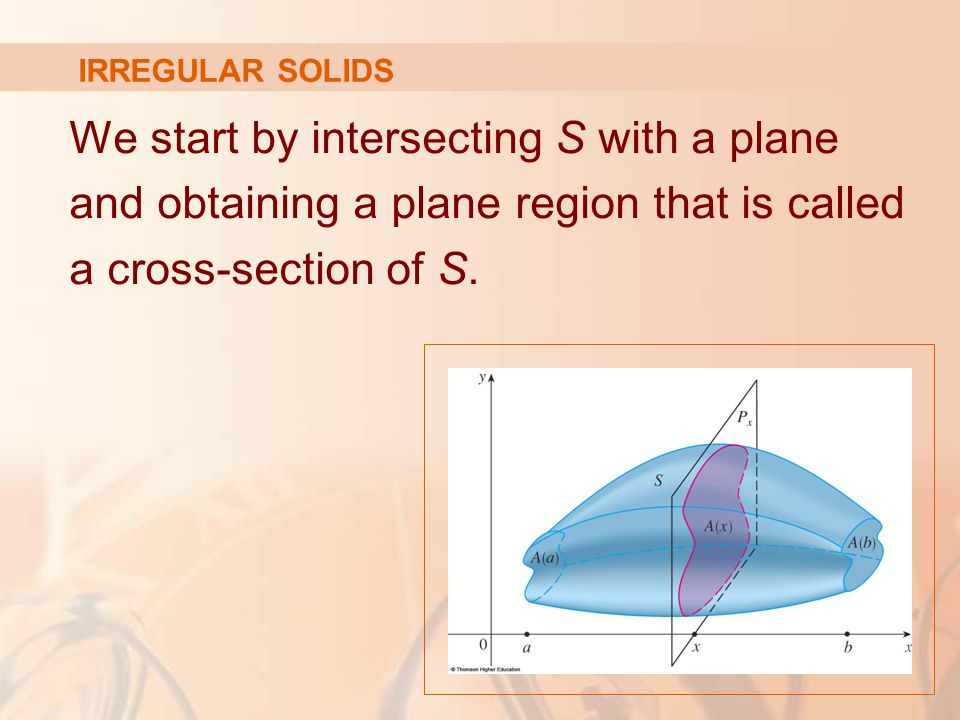 We start by intersecting S with a plane