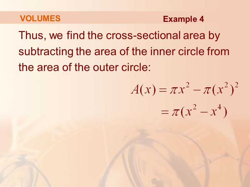 Thus, we find the cross-sectional area by