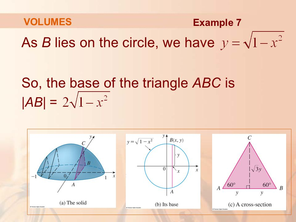 As B lies on the circle, we have So, the base of the triangle ABC is