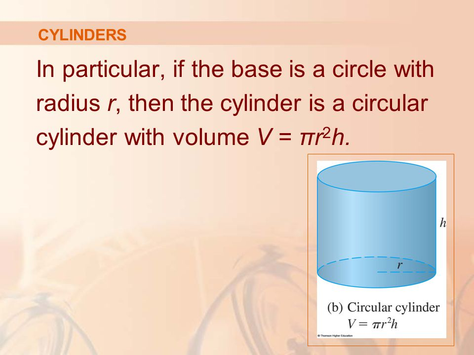 In particular, if the base is a circle with