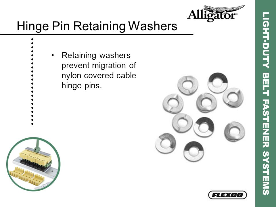 Hinge Pin Retaining Washers