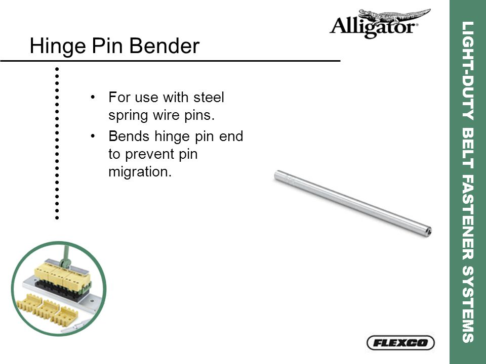 Hinge Pin Bender For use with steel spring wire pins.