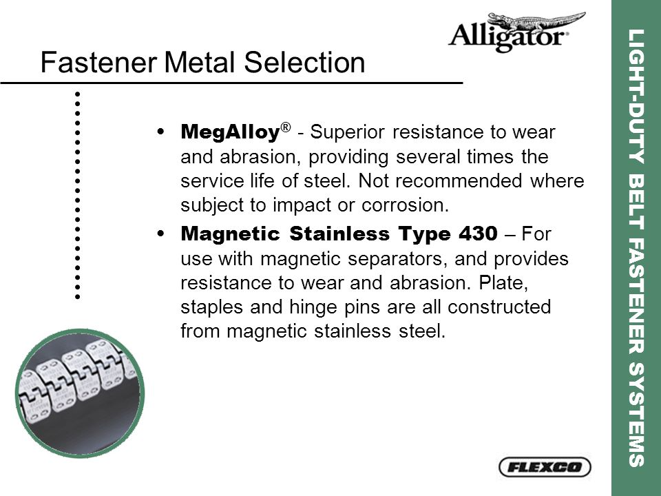 Fastener Metal Selection