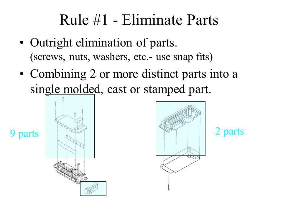 Rule #1 - Eliminate Parts