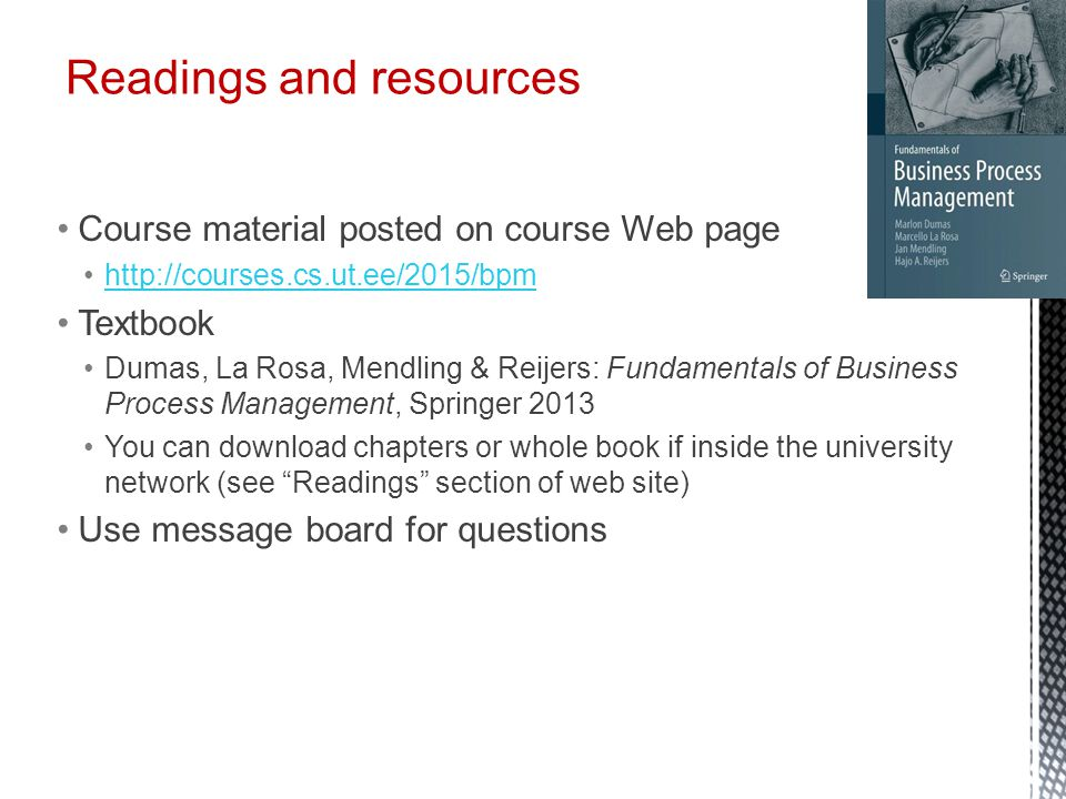 Readings and resources