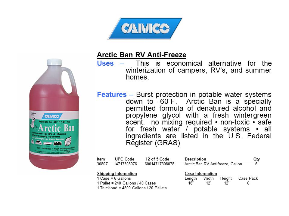 Arctic Ban RV Anti-Freeze