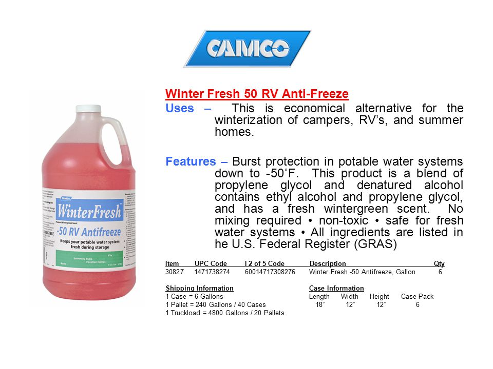 Winter Fresh 50 RV Anti-Freeze