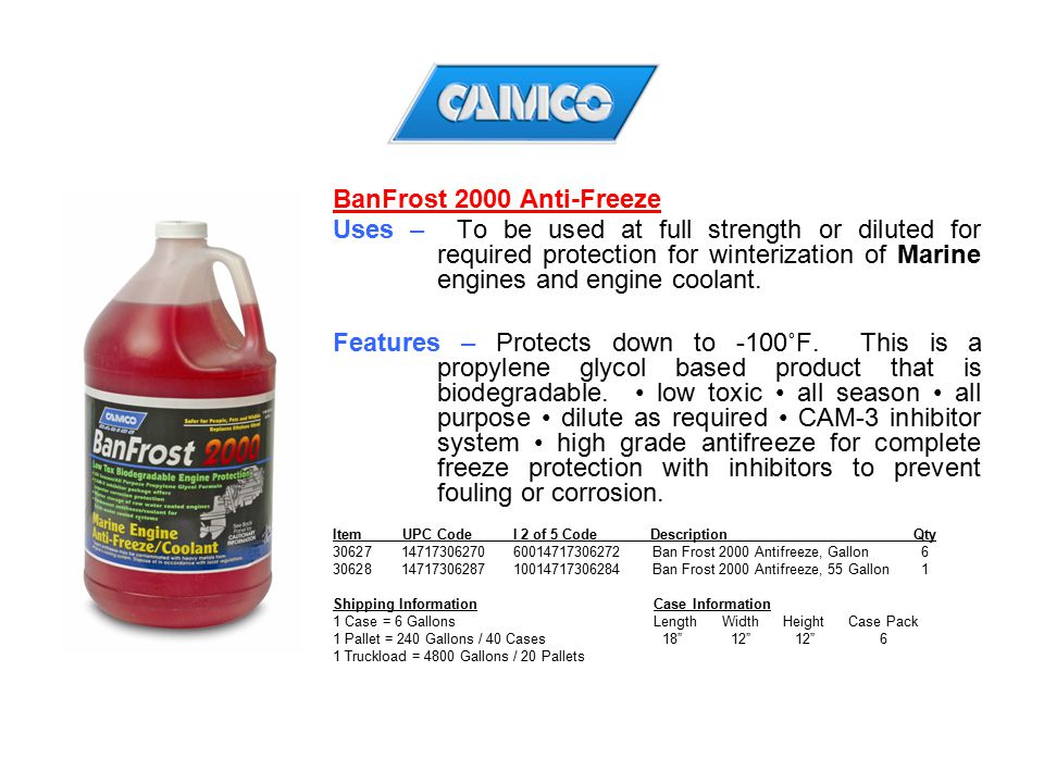 BanFrost 2000 Anti-Freeze
