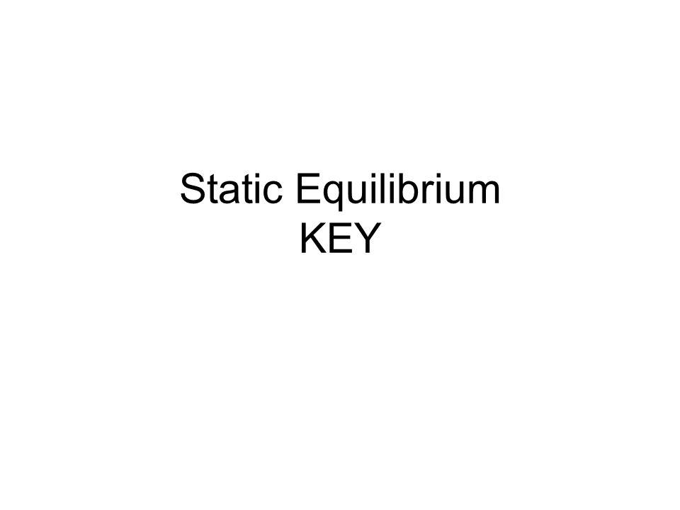 Static Equilibrium KEY